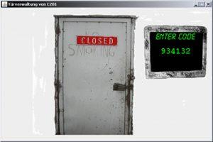 Status einer registrierten Tür
